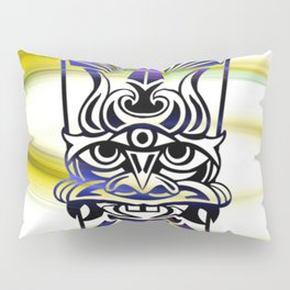 Vicious Tribal Mask Blue 009 Pillow Sham
