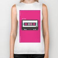 cassette Biker Tanks featuring Cassette  by JFE ILLUSTRATIONS