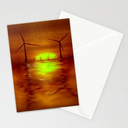 As the Sun goes down (Digital Art) Stationery Cards