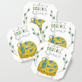 It's tea-cock time Coaster