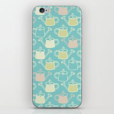 Watering Cans On Teal iPhone & iPod Skin