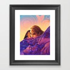 The Sun In My Sea Of Stars Framed Art Print