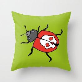 Death's Head Ladybird Throw Pillow