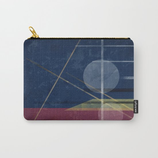 Abstract painting in blue red colours . Carry-All Pouch