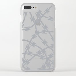 Trapped Grey Clear iPhone Case