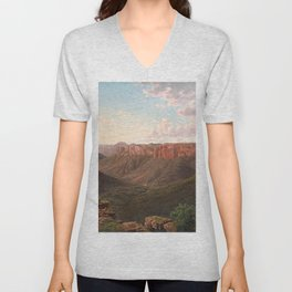 Govett's Leap and Grose River Valley, Blue Mountains, New South Wales by Eu von Guerard Date 1873  R Unisex V-Neck