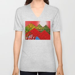 Colorful Peaks Unisex V-Neck