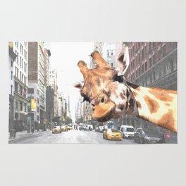 Selfie Giraffe in New York Rug