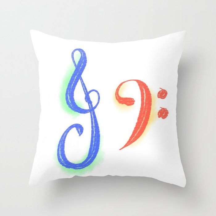 Treble and Bass Throw Pillow