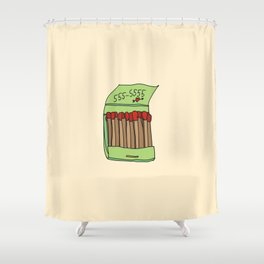 Matchbook Love Shower Curtain