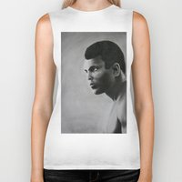 ali Biker Tanks featuring Ali by pat langton