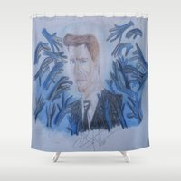 kevin russ Shower Curtains featuring Kevin Bacon. by TheArtOfFaithAsylum