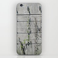 the wire iPhone & iPod Skins featuring Wire Trellis  by Ethna Gillespie