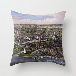 The City Of Washington - Birds-Eye View Throw Pillow