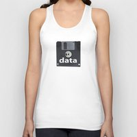data Tank Tops featuring data  by dogbauu