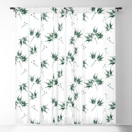 Green Acer Pattern Blackout Curtain