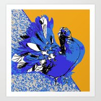 pigeon Art Prints featuring Pigeon by Aimee St Hill