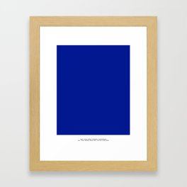 Leap Into the Void Framed Art Print