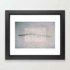 enjoy the simple things Framed Art Print