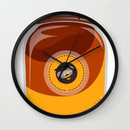 Cartoon Cute Bee Wall Clock