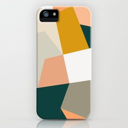 Abstract Geometric 27 Green iPhone Case