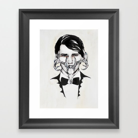 BowTie Framed Art Print