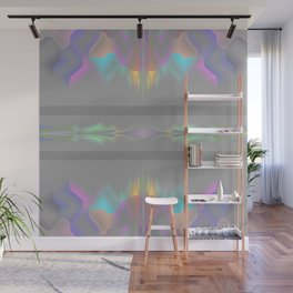 Shades of gray with colors Wall Mural