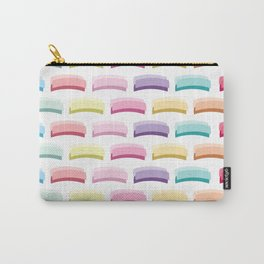 Light Pastel Candy Colors Stripes Carry-All Pouch