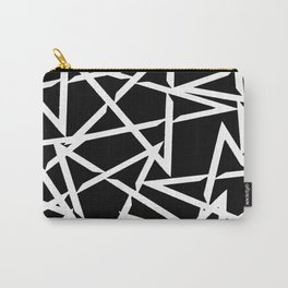 Interlocking White Star Polygon Shape Design Carry-All Pouch