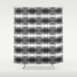 Triangles Merging Shower Curtain