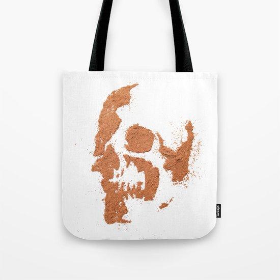 149. Cocoa Stencil Skull Tote Bag