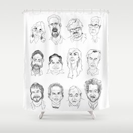 Ancient Aliens Shower Curtain