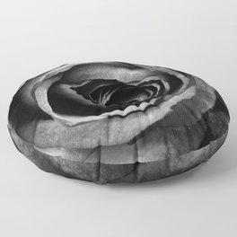 Black Rose Flower Floral Decorative Vintage Floor Pillow