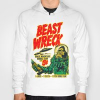 50s Hoodies featuring BEASTWRECK ATTACKS! by BeastWreck