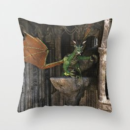 Dragon's Den Throw Pillow