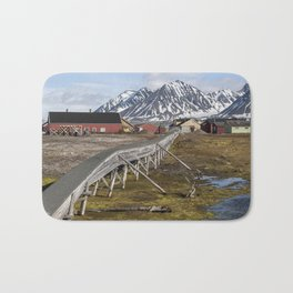Svalbard buildings Bath Mat