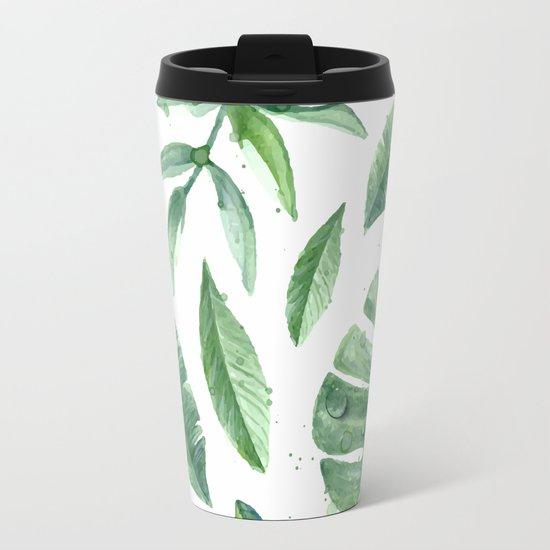 Leaves of the tropics Metal Travel Mug