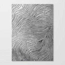 Chrome effect metallic texture Canvas Print