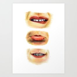 Lips with emotions Art Print