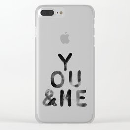 You & Me Clear iPhone Case