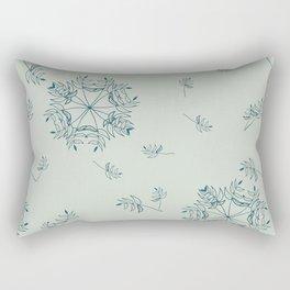 Tiny Leaves Rectangular Pillow