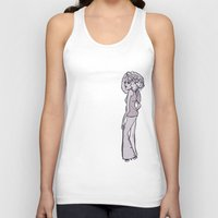70s Tank Tops featuring 70s Girl by Erica Evans Design