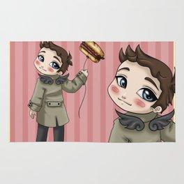 Castiel Loves Hamburgers Rug
