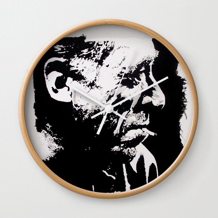 Charles BUKOWSKI - faith quote Wall Clock