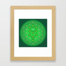 Flower of Life - Heart Framed Art Print