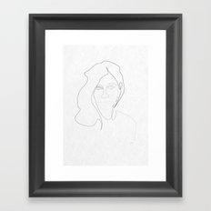 One Line Pj Harvey Framed Art Print