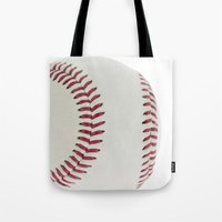 baseball Tote Bags featuring Baseball by Pedro Nogueira