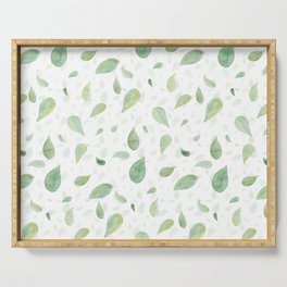 Spring Leaves Serving Tray