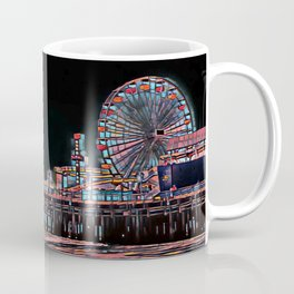 Stained Glass Santa Monica Pier Coffee Mug
