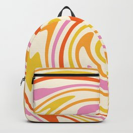 70s Retro Swirl Color Abstract 3 Backpack